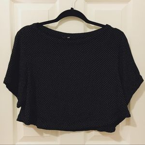 H&M Black Polka Dot Chiffon Top